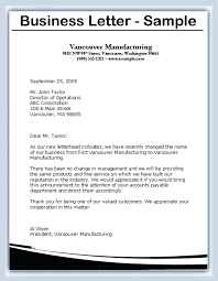 Business Letter format Sample Free Fishingstudio