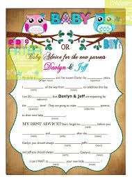 Halloween Mad Libs gender reveal owls mad lib gender reveal owls personalized