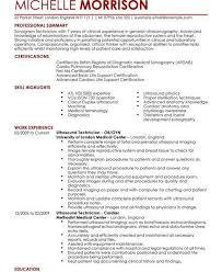 Ultrasound Resume Exles by Ultrasound Resume Exles Resume Free Printable Ultrasound