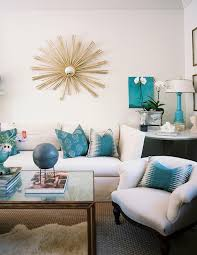 Attracktive Brown Marble Coffee Table Turquoise Lamps Contemporary Living Room Lonny Magazine