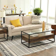 lounge foyer glastisch mit 2 schubladen und ablage in