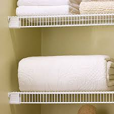White Wire Closet Shelving Image Gallery