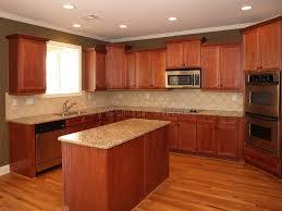 cuisine cerise cuisine en bois de cerise de luxe avec l île photo stock image
