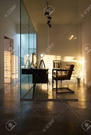 100 Soho Interior Design Office Interior With Sunset Golden Hour Lighting And Shadow