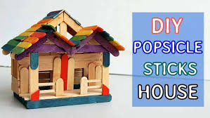 How To Make A Pop Stick House Simple Craft Ideas Fun Crafts Do At Home With Household Items It Is And Easy Fairy Project That You Can