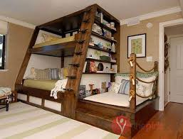 The joy of Bunk Beds with stairs in childhood