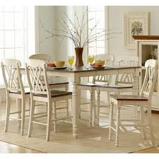 5 Piece Counter Height Dining Room Sets by Homelegance Ohana 5 Piece Counter Height Dining Room Set In White