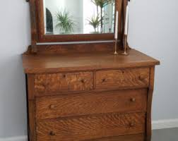 Tiger Oak Dresser With Swivel Mirror by Antique Oak Dresser Etsy