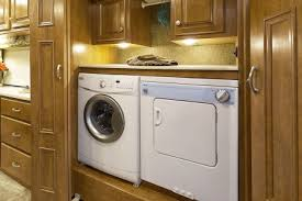 Usa Motorhomes Wp Content Uploads 2015 Palazzo Class A Encore Vintage Maple Laundry 448x298