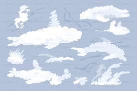 100 Flat Cloud Vector Flat Animal Shaped Clouds