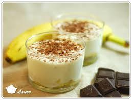 dessert rapide chocolat banane verrine de fromage blanc à la banane
