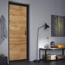 bloc porte chêne indus artens h 204 x l 73 cm poussant droit