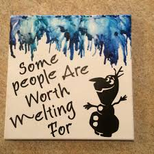Melted Crayon Canvas Of My Favorite Disney Quote Some People Are Worth Melting For