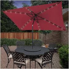 Solar Lighted Patio Umbrella by Rectangular Patio Umbrella With Solar Lights Smartly Angele Queford