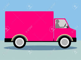 100 Pink Truck Lorry Vector For Copyspace Stock Photo Picture And