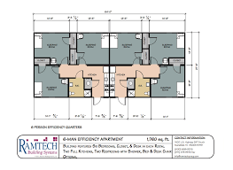Efficiency Floor Plans Colors Permanent And Relocatable Commercial Modular Construction Floor Plans