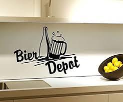 wandtattoo bier depot küche bar flasche wand sticker