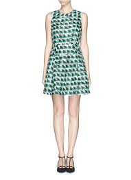 taylor u0027hannah u0027 silk organdy print dress green casual dresses