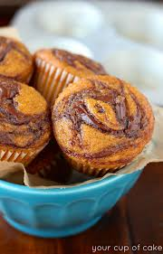 Cake Mix And Pumpkin Puree Muffins by Pumpkin Nutella Muffins Your Cup Of Cake