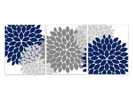 home decor wall art canvas and prints blue grey wall art