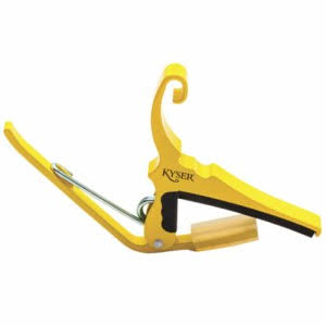 Kyser Acoustic Guitars 6 String Quick Change Guitar Capo - Yellow