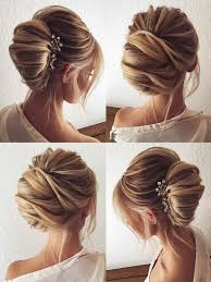 French Twist Hairstyle Weddinghair Updo Hairstyles Bridalhair Formalhairstyle For Long HairWinter Wedding