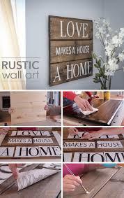 DIY Rustic Wood Wall Art