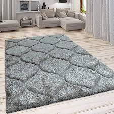 paco home hochflor teppich kuscheliger wohnzimmer pastell shaggy 3d muster m soft garn grösse 160x220 cm farbe grau