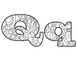 Anti Coloring Book Alphabet The Letter Q Vector Illustration