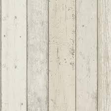papier peint les naturels intissé effet planche cérusée blanc