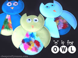 Owl Craft Made From Paper Plates By Preschoolers