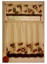 Fat French Chef Kitchen Curtains by Coffee Cup Kitchen Curtains Tiers Valance Complete Set