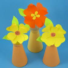 Plain Vase With Paper Flowers