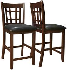 Bar Height Dining Chairs (Set Of 2) In Wood Bar Stools