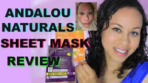 Andalou Naturals Glycolic Mask Pumpkin Honey by Andalou Naturals Sheet Mask Review Youtube