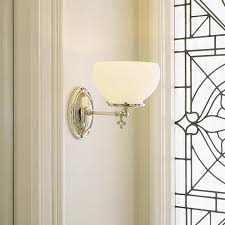 style wall sconce with gas shade brass light gallery