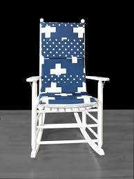 100 Navy Blue Rocking Chair Swiss Cross Cover Cross Polka Dot