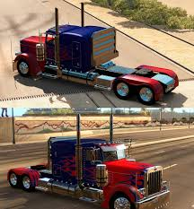 Peterbilt 389 Optimus Prime Skin For Viper's Truck Mod For ATS ...