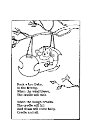 Nursery Rhymes Printable Coloring Sheets Pages For Kids
