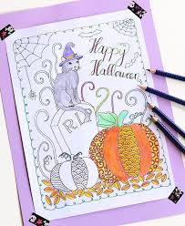 Halloween Books For Adults 2017 by 30 Halloween Coloring Page Printables To Keep Kids And Adults