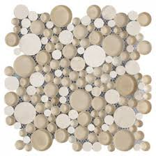 bubbles crema marfil polished froasted marble glass mosaic tile
