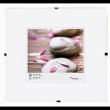 cadre photo sans bordure 30x30 verre clair