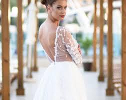 Open Back Wedding Dress Rustic Beach Summer