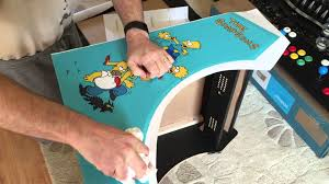 Mame Arcade Bartop Cabinet Plans by Applying Side Art Vinyl To A Bartop Arcade Cabinet Youtube