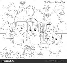Trois Jolis Petits Chats Coloriage Simple Coloriage Trois Petit Cochon Loup
