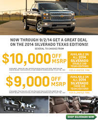 100 Chevy Trucks 2014 Silverado Special Texas Edition Deal Offers El Paso Sales