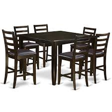 FAIR7-CAP 7-piece Pub-height Table Set Oakley 5piece Solid Wood Counter Height Table Set By Coaster At Dunk Bright Fniture Ferra 7 Piece Pub And Chairs Crown Mark Royal 102888 Lavon Stools East West Pubs5oakc Oak Finish Max Casual Elements Intertional Household Pubs5brnw Derick 5 Buew5mahw Top For Sets Seats Outdoor And Unfinished Dimeions Jinie 3 Pc Pub Setcounter Height 2 Kitchen