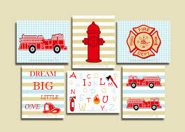 Fire Truck Nursery Wall Print,set Of 6 Red-blue-beige Firetruck Baby ... Geenny Baby Boy Fire Truck 13pcs Crib Bedding Set Patch Magic 6piece Minnie Mouse Toddler Bed Kmart Trucks Elephant Engine Kids Pirate Ship Musical Mobile By Sisi Nursery Pinterest Related Image Shower Cot Bedding And Nursery Image 19088 From Post Baseball Decor With Room Pottery Barn Babies R Us Blanket 0x110cm Fine Plain Designer Cotton Patchwork Shop Boys Theme 4piece Standard
