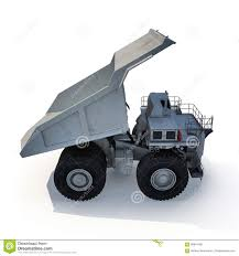Large Haul Truck Ready For Big Job In A Mine. On White. 3D ...