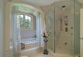 l shaped shower curtain rod bathroom shabby chic with alcove